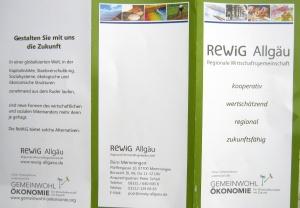 Flyer Rewig Allgäu GemeinwohIökonomie