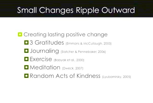 Shawn Achor - Happyness rewired - Small Changes Ripple Outwards
